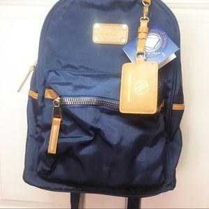 Adrienne Vittadini Navy Blue nylon Backpack